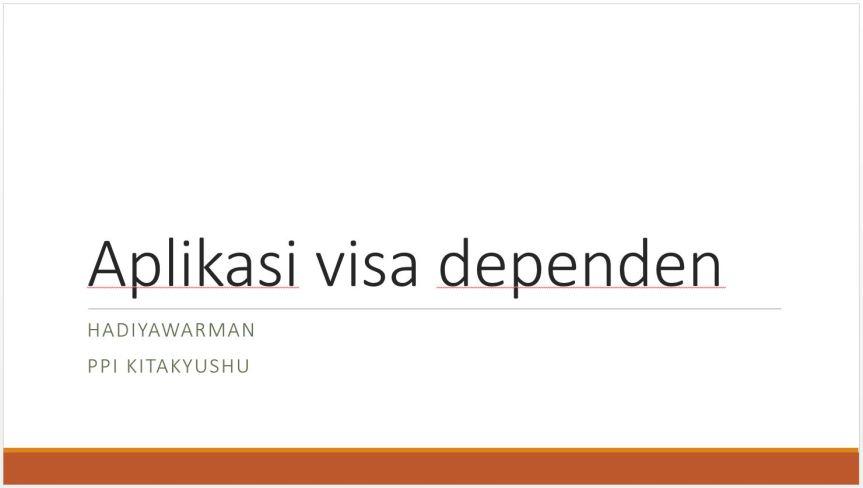 Aplikasi Visa Dependen